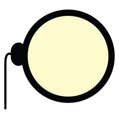 Isolated monocle icon on a white background, Vector illustration