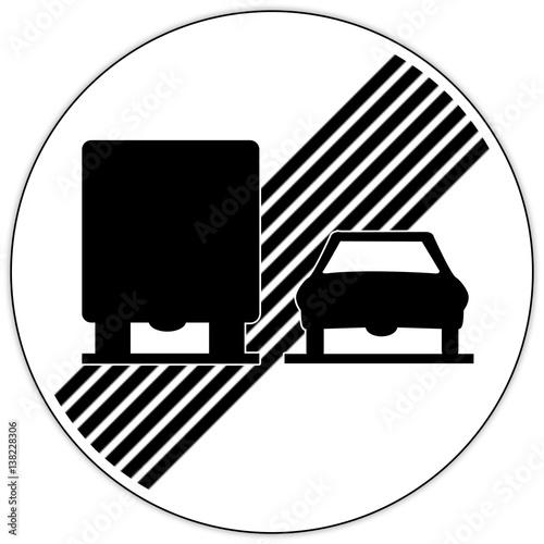 panneau routier en suisse interdiction de doubler pour les camions stock photo and royalty. Black Bedroom Furniture Sets. Home Design Ideas
