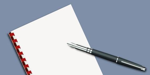 Stylo Plume - Page Blanche - présentation - écrire -