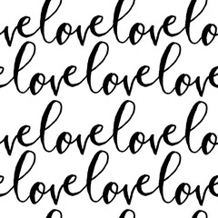 Fototapete - Love Seamless Pattern