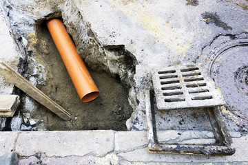 sanitation drain water  pipes to  repair or restoir  in street city