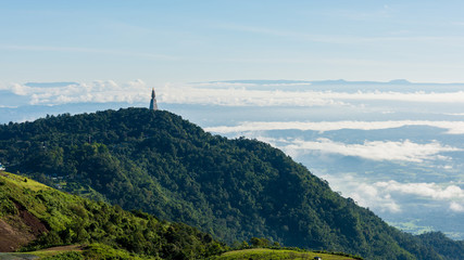 The landscape photo in morning time at Phu Tub Berk Viewpoint, Phu Hin Rong Kla National Park in Thailand