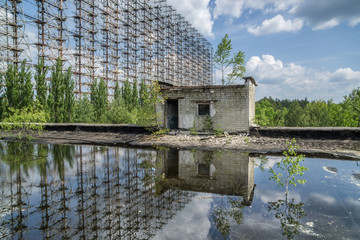 Antenna of Soviet OTH-Radar Duga-3, the outer-space communication centre, Chernobyl