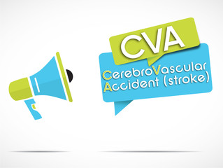 megaphone : CVA (Cerebrovascular accident)