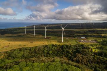 Wind turbines power generators Hawaii