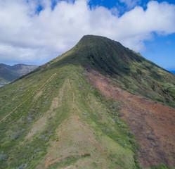 Aerial image of Koko Crater Hawaii