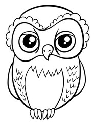 owl character coloring page