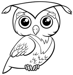 cute owl coloring page