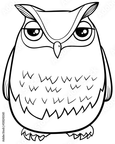 Cartoon Owl Coloring Page Stock Image And Royalty Free Vector Files