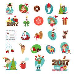 Happy New Year set. Vector illustration