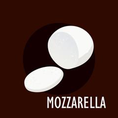 Pile of mozzarella cheese slices