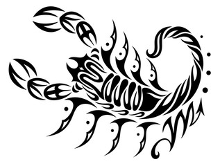 Skorpion im Tribal & Tattoo Style, Astrologie