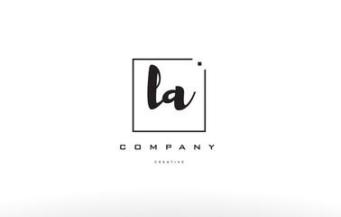 la l a hand writing letter company logo icon design