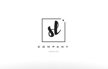 sl s l hand writing letter company logo icon design