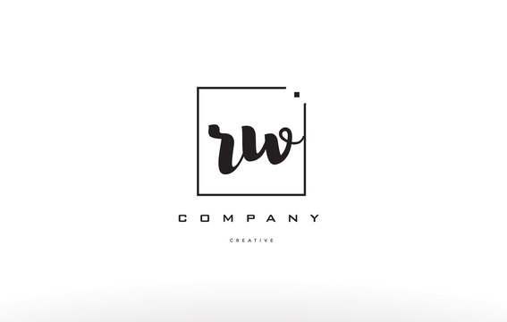rw r w hand writing letter company logo icon design