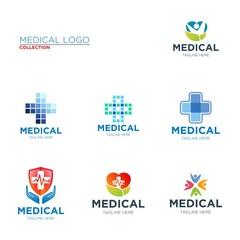 Medical logo, health care logo design