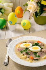 Traditional polish easter soup - zurek.
