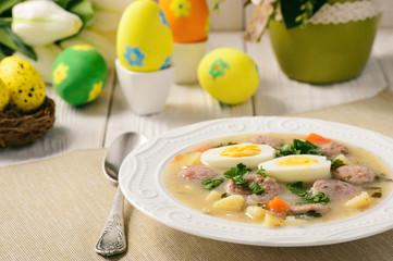 Traditional polish easter soup - zurek.