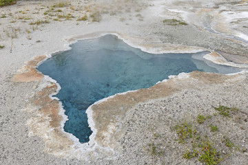 Colorful Hot Spring in the Wilderness
