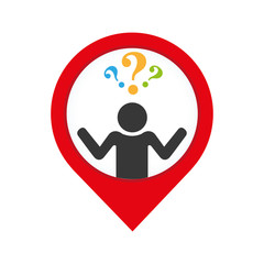 person silhouette with question mark vector illustration design