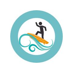 surfboard sport summer icon vector illustration design