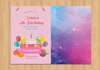 Children's Birthday Party Invitation Layout 1