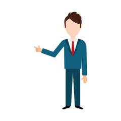 Businessman executive profile icon vector illustration graphic design