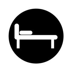 bed silhouette isolated icon vector illustration design