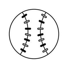 baseball sport isolated icon vector illustration design
