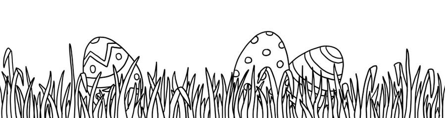 Ausmalbild Ostern Wiese
