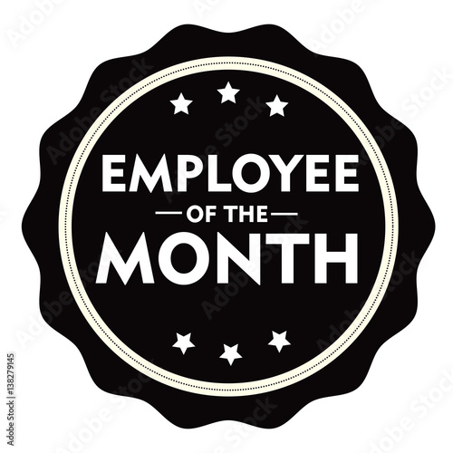 employee of the month stamp sign seal logo stock image and royalty