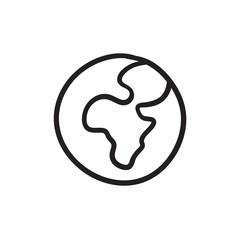 Globe sketch icon.