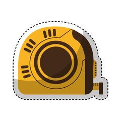 tape measure tool icon vector illustration design
