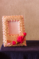 Paper picture frame still life
