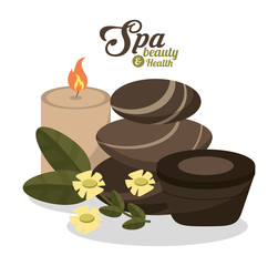candles and spa beauty related icons image vector illustration design
