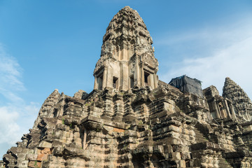 One of the main tower of Angkor Wat the most tourist attraction place in Siem Reap, Cambodia.