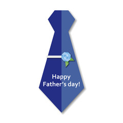 Father's day necktie and rose design tie clip