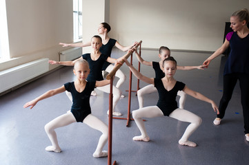 Children are engaged in choreography.