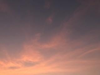 Dusk sky in the evening