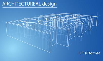 Model floor of apartment block. Vector