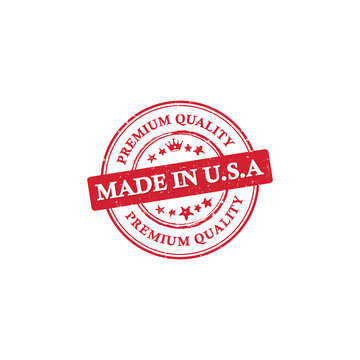 Made in USA, Premium Quality printable grunge label / stamp. Print colors (CMYK) used