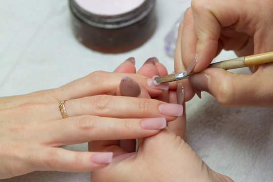 the creation of extension nails