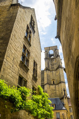 Medieval buildings in Sarlat-la-Caneda; Dordogne; France