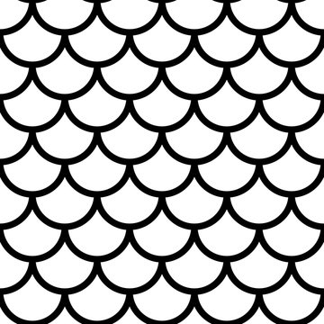 Black and white fish scales