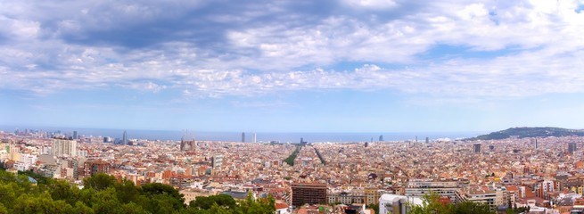 Panorama de Barcelone.