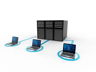 Computer Network,3d rendering