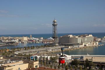 Barcelona, Urlaub, Tourismus, Travel, Spanien, Palmen, Hafen, Seilbahn