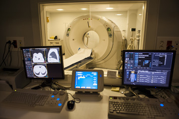 The tomographic scanner in hospital