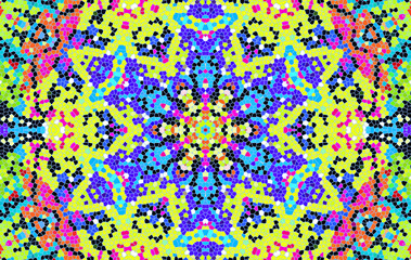 Bright multi-color mosaic pattern