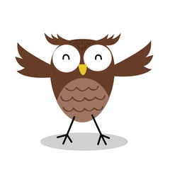 cute bird owl design